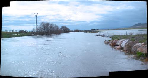 Panorámicas Puente Alto, rio desbordado