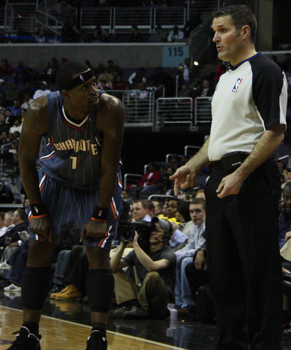 Stephen Jackson, Charlotte Bobcats, SJax, NBA, Referee, Washington Wizards