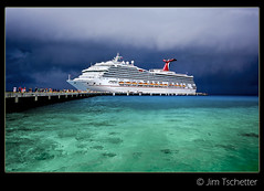 Carnival Valor (IC360) Tags: cruise carnival sky storm mexico grey pier dock ship cozumel valor carnivalvalor explored ic360images jimtschetter