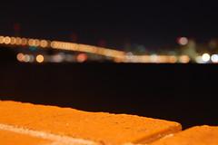Orange and Embarcadero (Willlllake) Tags: ocean bridge blue moon green grass golden moss gate san francisco long exposure bokeh filter nd mussels clams 55200