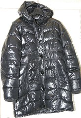 Discarded shiny nylon down filled coat (longyman) Tags: ladies abandoned rotting trash found clothing junk shiny coat down clothes jacket rubbish waste discarded nylon downcoat waterproof landfill pamy thrown padded rotted downjacket dugup thrownaway nyloncoat pufferjacket bubblejacket puffajacket nylonjacket puffercoat puffacoat bubblecoat