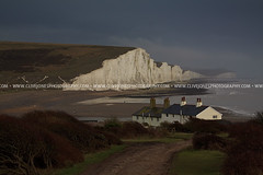 IMG_101_1607 (www.clivejonesphotography.com) Tags: light sea mist beach rain landscape coast nt cliffs illuminated eastbourne nationaltrust iconic sevensisters whitecliffs eastsussex southdowns beachyhead drizzle darksky cottages cuckmerehaven sevensisterscountrypark seafordhead atonement chalkcliffs canonef24105mmf4lisusm sooc straightoutofcamera canoneos50d canon50d coastguardcottages notdover southdownsnationalpark atonementlocation