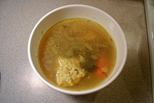 un-chicken matzah ball soup