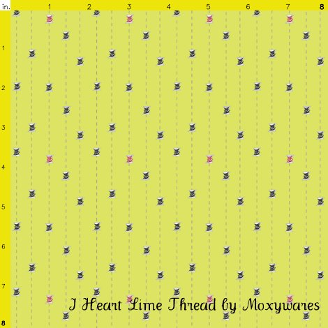 I Heart Lime Thread by Moxywares