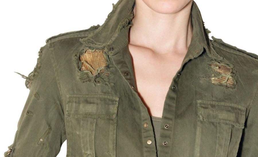 Balmain SS2010 military chainmail shirt 2