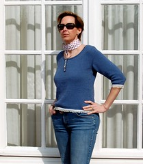 Skipper (KeTreKo) Tags: blue knitting handmade buttons skipper knit velvet ribbon rowan 47 flourish organza schwetzingen stricken erikaknight pimacotton