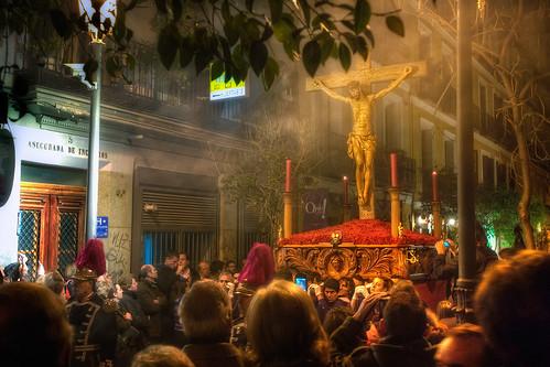 Procesión del Silencio, Semana Santa – Holy Week Easter 2010, Madrid, HDR