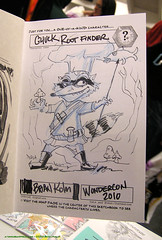 Wondercon 2010: sketch of Chuck Rootfinder