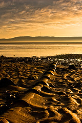 Sunrise at Red Wharf Bay (Traeth Coch) #2, Anglesey, North Wales (Anthony Lawlor) Tags: ocean morning sea sunlight beach water wales clouds sunrise landscape coast sand sony pipe alpha lightroom anglesey traethcoch redwharfbay a350 greatbritishlandscape