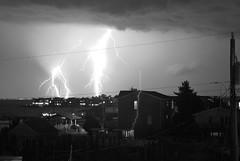 Lightning over Barnegat Bay (epstemar) Tags: ocean travel summer usa storm beach water bay newjersey nikon raw wind august lbi longbeachisland bolt strike thunderstorm lightning 2009 thunder d60