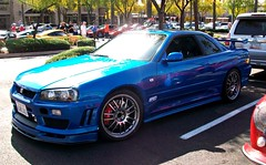 Nissan Skyline GT-R (agup627) Tags: california 2001 blue red arizona sun cars sports coffee car japan skyline movie t paul drive automobile nissan hand bright oz 5 five wheels fast right next walker r level vehicle brake scottsdale gt custom 5th coupe generation ff furious sportscar motorsport fifth gtr paulwalker nismo imported rhd scottsdalearizona r34 fastandfurious gtt calipers superleggera ozwheels thefastandthefurious fastfurious carsandcoffee fastfive nextlevelmotorsport