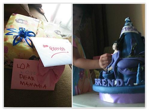card, present & cake