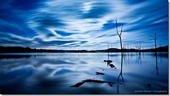 Moon over Moogerah (Matthew Stewart | Photographer) Tags: trees moon reflection tree water clouds reflections stars sticks log logs brisbane moonrise qld queensland ipswich boonah charlwood lakemoogerah