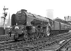 60145 'Saint Mungo'. Birmingham (Moor Street). 5 September 1965 (ricsrailpics) Tags: uk bw birmingham pacific steam 1965 peppercorn moorstreetstation classa1 exlner wrsspecial