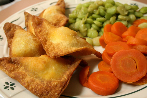 Buffalo Wontons and Sesame Limas.