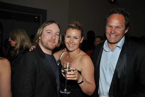 Adrian Hailwood (featured designer in 'New Zealand Fashion Design'), Bronwyn Illingworth and Josh Kronfeld