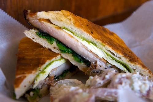 northside social - crispy pork belly sandwich