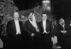 Richard M. Nixon;Saud Ibn Abdul Aziz [RF: Saudi Arabia RF];Dwight D. Eisenhower (K_Saud) Tags: party standing dc washington king unitedstates president vice nixon richard saudi arabia abdul dwight rf aziz eisenhower ibn saud timeincown 937360