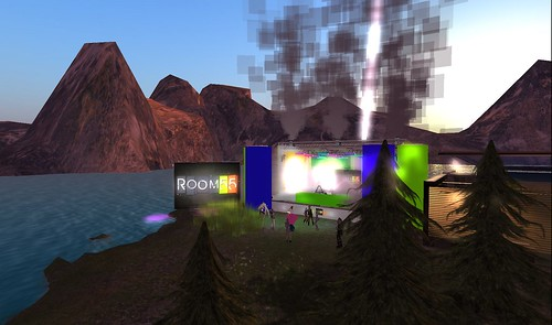 room 55 outdoor event in second life