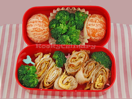 Kids Bento #100 - Swirly Whirly