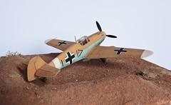 Bf-109 F-4, Martuba, 1942.ii (whiskyman87) Tags: scale northafrica models diorama bf109 worldwar2 messerschmitt airfix 148 jg27 martubaairfield