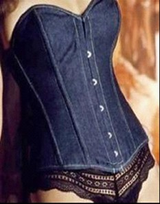 Thumbnail image for Elegant Blue Jeans Corset
