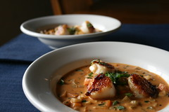 Seared Scallops with Coconut-Mussel Stew (davecurry8) Tags: coconut searedscallops musselstewrecette