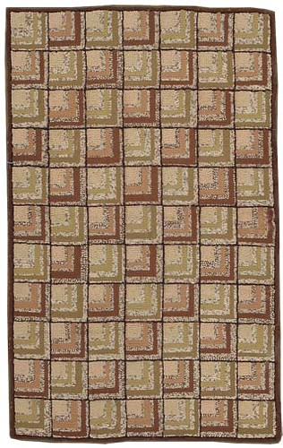 Antique American Hooked Rug #2790 by Nazmiyal Collection