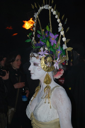 Beltane Fire Festival 2010 - Edinburgh - May Queen by Martin Robertson.
