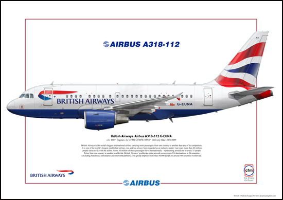 British Airways Airbus A318-112 G-EUNA