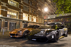 Gumball 3000 - Ferrari 599 Hamann & Lamborghini LP670 (Murphy Photography) Tags: new york toronto holland london cars amsterdam night speed copenhagen nightshot 1st stockholm montreal may super ferrari chrome lp violence autos tuning 3000 lamborghini sv gumball ralley gtb supercars combo 670 hamann sportwagen 599 fiorano
