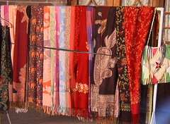 Silk Scarves in Bukhara Markets