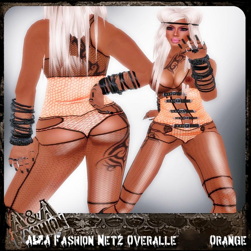A&A Fashion Netz Overalle Orange