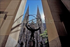00130134 (wolfgangkaehler) Tags: city newyorkcity usa newyork building art church america buildings liberty cathedral cities stpatrickscathedral churches cathedrals rockefellercenter american atlas northamerica newyorkstate publicart rockefeller stpatricks northeast americas leelawrie northamerican
