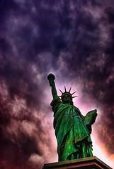 Sweet Land of Liberty? (MistaPuppsta) Tags: statue japan tokyo odaiba hdr