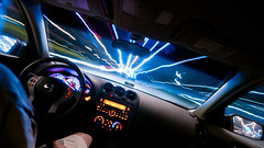 Night Driving (Sky Noir) Tags: travel light sky usa car night speed photography virginia us nikon automobile long exposure noir driving unitedstates action unitedstatesofamerica trails fast sigma va vehicle motor lighttrails 1020mm rva driven autocar passengercar shortpump skynoir bybilldickinsonskynoircom yahoo:yourpictures=angles