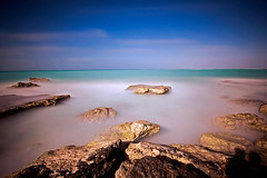 Floating Rocks (DolliaSH) Tags: longexposure trip travel sea vacation holiday seascape tourism beach gulfofmexico mxico strand canon mexico rocks tour gulf place yucatan wideangle visit location tourist yucatn journey mexique destination cancun caribbean traveling visiting ultrawide 1022mm touring mexiko marcaribe caribe canonefs1022mmf3545usm 50d meksiko peninsuladeyucatan nd110 canoneos50d mexik riupalacelasamericas dollia 100commentgroup dollias sheombar dolliash bw10stopsolidndfilter