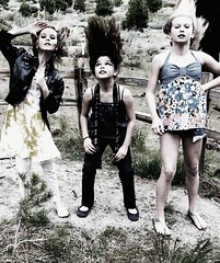 Future Super-Models. (melody jane (previously iron&melody)) Tags: girls cute beautiful fence hair outdoors intense model wind grain young longhair super flip blonde drama hairflip