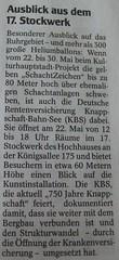 WAZ Bochum: Ausblick aus dem 17. Stockwerk