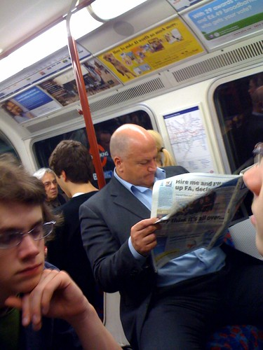 Bob Crow on the Bakerloo Line by Mags Halliday