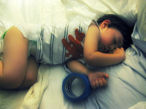 Asleep With Tape
