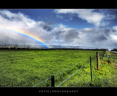 After the Rain Has Gone :: HDR (:: Artie | Photography :: Offline for 3 Months) Tags: sky cloud nature field grass clouds photoshop canon dark landscape landscapes rainbow cs2 cloudy fences australia wideangle handheld adelaide 1020mm southaustralia hdr artie 3xp sigmalens photomatix tonemapping tonemap 400d rebelxti