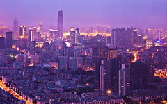 Tianjin from Tianjin TV Tower (Sarmu) Tags: china city light sunset wallpaper urban building fog skyline architecture night skyscraper lights twilight highresolution downtown cityscape view skyscrapers nightshot widescreen 1600 highdefinition resolution 1200 cbd hd bluehour wallpapers  tianjin 1920 vantage 2010 vantagepoint ws  1080 1050 720p 1080p urbanity 1680 720 tianjintvtower 2560  sarmu tianjinradioandtelevisiontower
