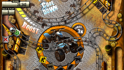 Pinball Heroes Bundle 2 for PSP: Motorstorm table