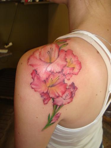 gladioli/gladiolus/gladiola tattoo