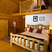 Grizzly Log Cabin Interior / Photo by Eric Berger