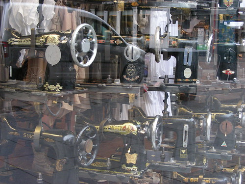 mega display of sewing machines