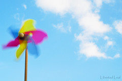 The Winds of Summer (Libertad Leal) Tags: blue summer sky clouds wind pinweel