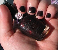 Piggy Polish Midnight Fireflies (meliestar) Tags: red black glitter nailpolish piggypolish midnightfireflies