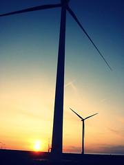 (Holly Alissa Hewitt) Tags: blue sunset orange holland canon angles turbine windturbine